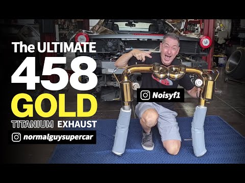 First Ferrari 458 Gold Exhaust in USA |REV+Flyby|POP&BANG