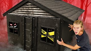 We built a Haunted TINY House! *SCARY*