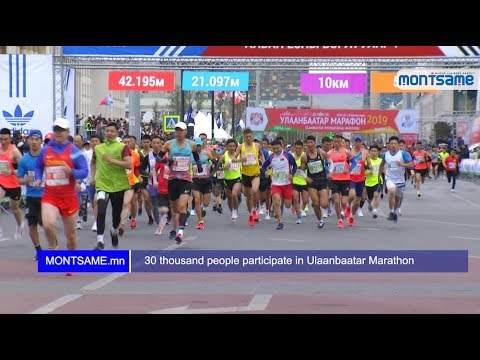 30 thousand people participate in Ulaanbaatar Marathon