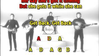 Get Back Beatles mizo vocals  lyrics chords