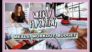 HOW I PLAN MY WEEKLY MEALS, BUDGET, AND FITNESS ROUTINE