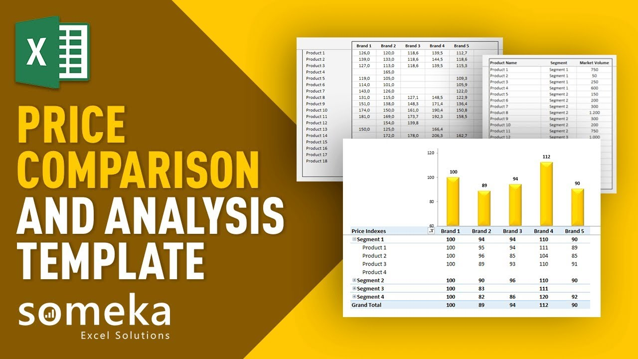 Price comparison and analysis excel template for small business price comparison and analysis template features maxwellsz