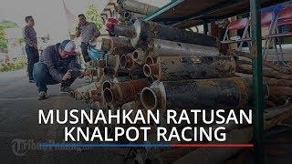 Polresta Padang Musnahkan Ratusan Knalpot Racing Hasil Sitaan dari Pengendara