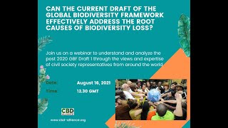 CBD Alliance Webinar: Voices from Civil Society