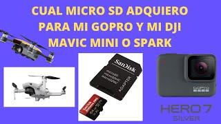 DRON DJI SPARK/DJI MAVIC MINI/GOPRO/TARJETA MICRO SD IDEAL
