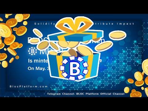 Airdrop BLOC Platform na Blockchain da Binance Coin . ACABA RÁPIDO ! Não precisa indicar ...