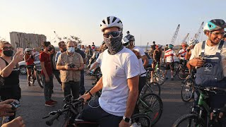 video: Watch: Lance Armstrong leads 'Bike for Beirut' to raise money for locals