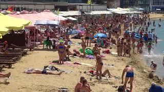 Центральный пляж Анапы в полдень 13.06.2018