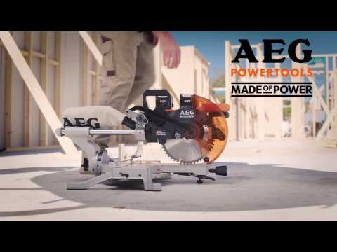 18V Brushless 254mm Mitre Saw - AEG Powertools