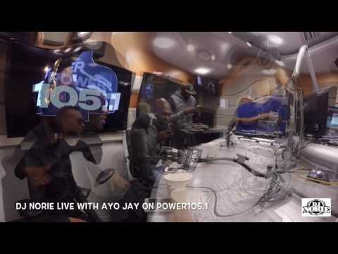 DJ NORIE LIVE INTERVIEW WITH AYO JAY ON POWER1051