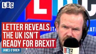 Bombshell Liz Truss letter warning UK isn't ready for Brexit   LBC