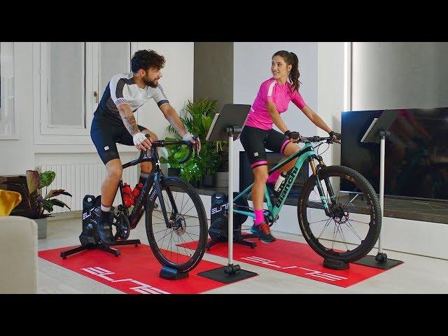 Видео Велотренажер интерактивный Elite Suito Cycletrainer черный