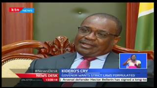 Governor Kidero says that government unwilling to pay money owed to Nairobi County