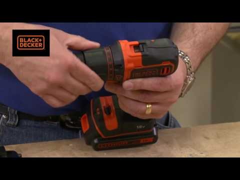 Black and Decker 18v Li Ion Cordless Combi Drill & 2 Batteries Complete In Case
