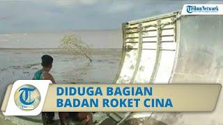 Update soal Temuan Serpihan Mirip Badan Pesawat di Kumai, Diduga Bagian Roket Cina yang Meledak