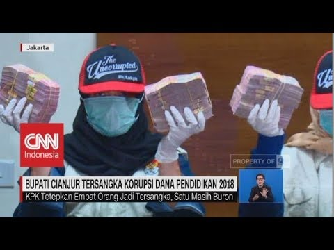 Penampakan Uang Hasil OTT Bupati Cianjur