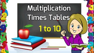 Multiplication Tables 01 to 10   1 to 10 Times Tables for Kids   Learn Tables from 1 to 10