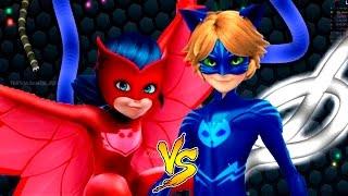 Slither.io Ladybug vs Catnoit Batalha de cobrinha vestido PJ Mask totoykids