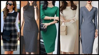Casual And Formal Gorgeous Office Wear Bodycon Dresses Collection For Business Women