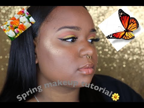 COLORFUL SPRING MAKEUP TUTORIAL 2018| NYX SUPER SKINNY EYE MARKER REVIEW| Fine China 🌸