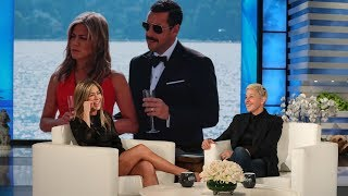 "Jennifer Aniston described her ""Murder Mystery"" co-star Adam Sandler's not so great wardrobe and his decision to go very casual for dinner at George Clooney's house. The star also commented on the debate over who she's better friends with - Ellen or Reese Witherspoon.  #JenniferAniston #AdamSandler #TheEllenShow"
