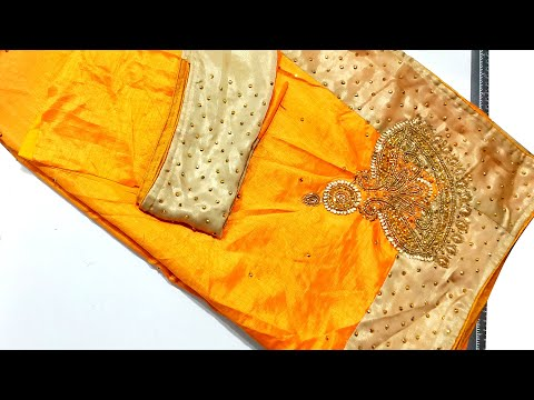 Saree Matching Blouse Design for Fancy Saree
