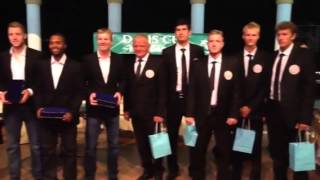 Jim Courier and U.S. Davis Cup Team with Uzbek Team In Tashkent