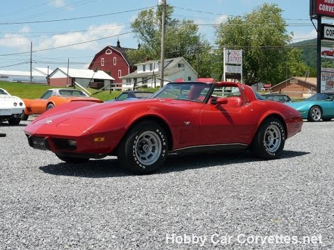 1978 Red Corvette L82 T Top Video