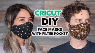 Cricut DIY Face Mask With A Filter Pocket, (Free Patterns)