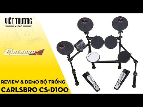 Review và demo bộ trống điện Carlsbro CS-D100