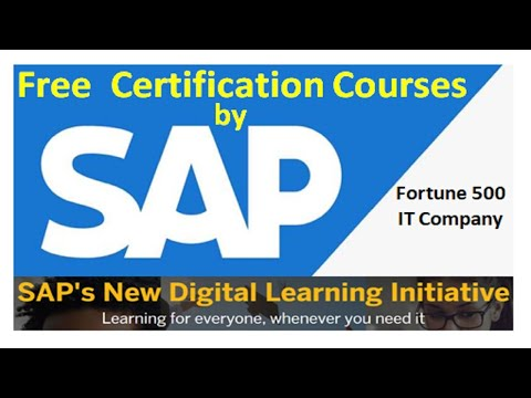 SAP ONLINE FREE CERTIFICATION COURSES |SAP ... - YouTube