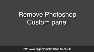 Remove Photoshop Extension Panel