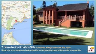 preview picture of video '7 dormitorios 5 baños Villa se Vende en Cancelada, Malaga (Costa Del Sol), Spain'