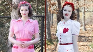 Valentines Day Dresses! 1930s Style : Chatty Sewing Vlog