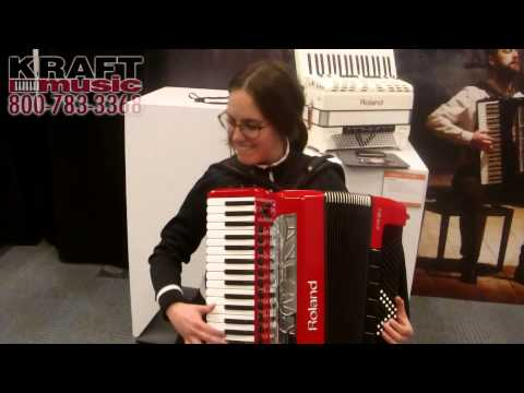 Kraft Music - Roland V Accordion Performance with Alicia Baker NAMM 2015