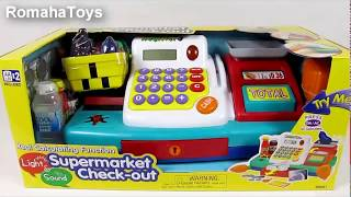 """Супермаркет: кассовый аппарат, микрофон , продукты - свет , звук от компании Интернет-магазин """"Timatoma"""" - видео"""