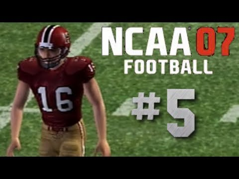 NCAA Football 07 PS2 Gameplay Harvard Crimson Ep.5 (vs 1AA East)