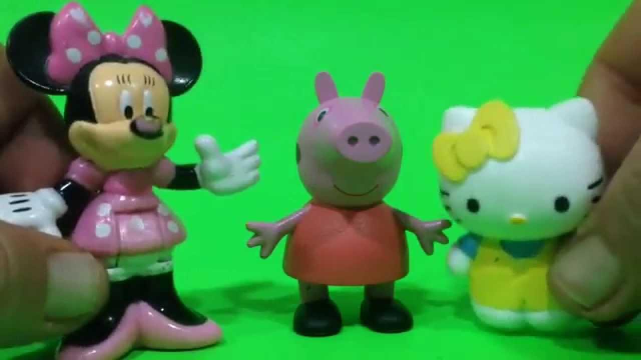 Peppa Pig, Hello Kitty y Minnie Mouse cantan a Bob Esponja