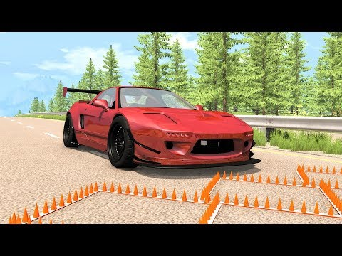 Massive Spike Strip Pileup Crashes #41 – BeamNG Drive | CrashBoomPunk