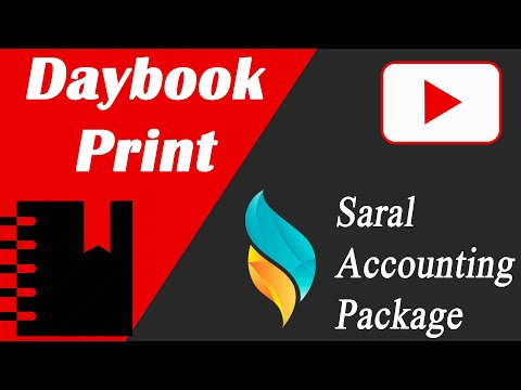 Daybook Print in Saral | Saral Accounting Package | Saral