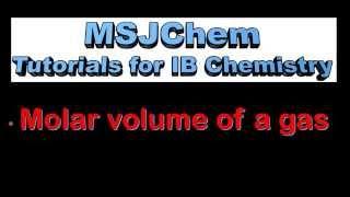 1.3 Molar Volume Of A Gas (SL)