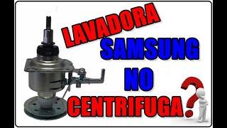 LAVADORA SAMSUNG NO CENTRIFUGA