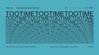The 1975   TOOTIMETOOTIMETOOTIME (Lyric Video)