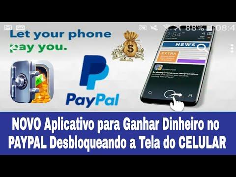 NOVO Aplicativo para Ganhar Dinheiro no PAYPAL Desbloqueando a Tela do CELULAR
