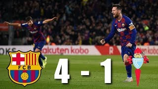 Barcelona vs Celta Vigo [4-1], La Liga 2019/20 - MATCH REVIEW