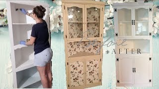 How Old Is This Thing?! DIY Refurbished Antique Cabinet!  Craft With Me! Farmhouse Style!