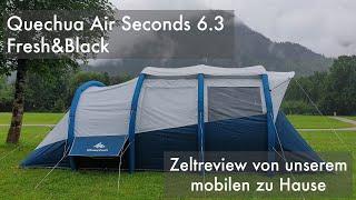 Zelt-Review: Quechua Air Seconds 6.3 Fresh&Black Zelt für bis zu 6 Personen