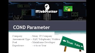 COND Parameter Explanation - job interview training