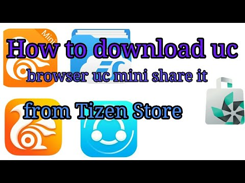 Download How To Install Uc Browser Shareit In Tizen Store Samsung Z