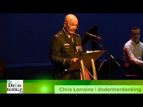 VIDEO   Toespraak Chris Lorraine tijdens dodenherdenking in Dronten